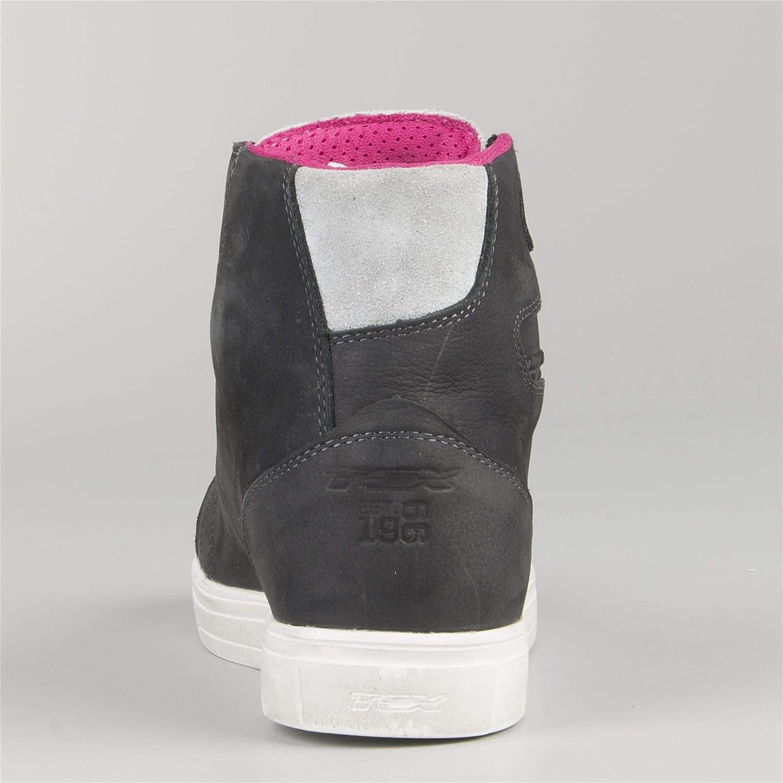 TCX Street Ace Ladies Waterproof Short Urban Motorcycle Boots Grey//Pink
