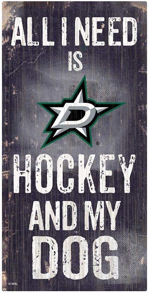 Fan Creations NHL Dallas Stars Unisex Dallas Stars Hockey and My Dog Sign, Team Color, 6 x 12