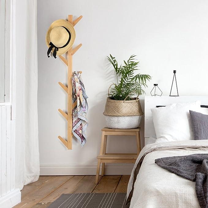 Amazon.com: Langria bambú perchero perchero: Home & Kitchen