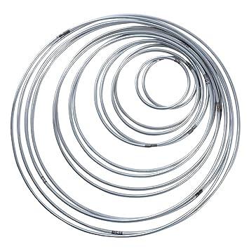 14 Stück 7 Größen Metallringe Metall Hoops für Traumfänger 5/8/ 10 ...