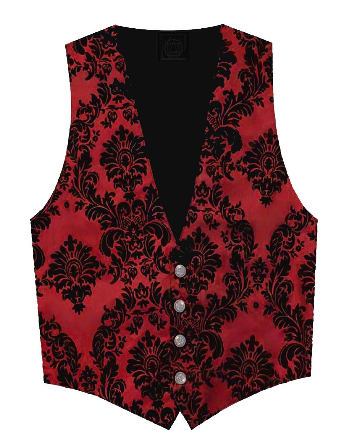Victorian Vagabond Steampunk Gothic Brocade Men's Vest 3