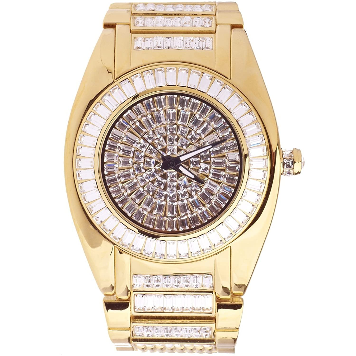 High Quality ICED OUT CZ Uhr - ROBUSTO gold