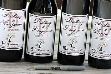 Amazon.com: Wine Labels - Labels Wedding Guest Book - WINE LABELS ...