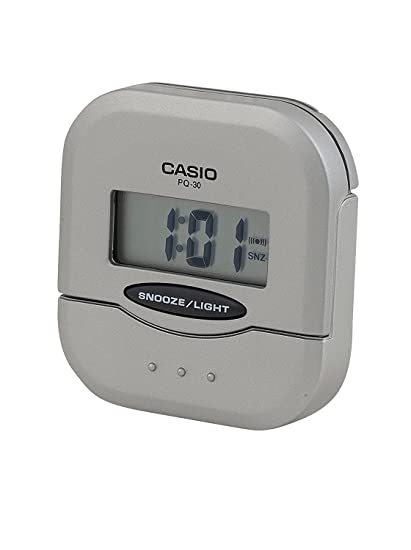 CASIO 10142 PQ-30-8D - Reloj Despertador digital gris: Amazon.es: Relojes