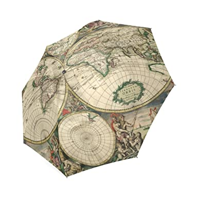 Amazon vintage old world map high quality foldable umbrella vintage old world map high quality foldable umbrella compact umbrella gumiabroncs Gallery