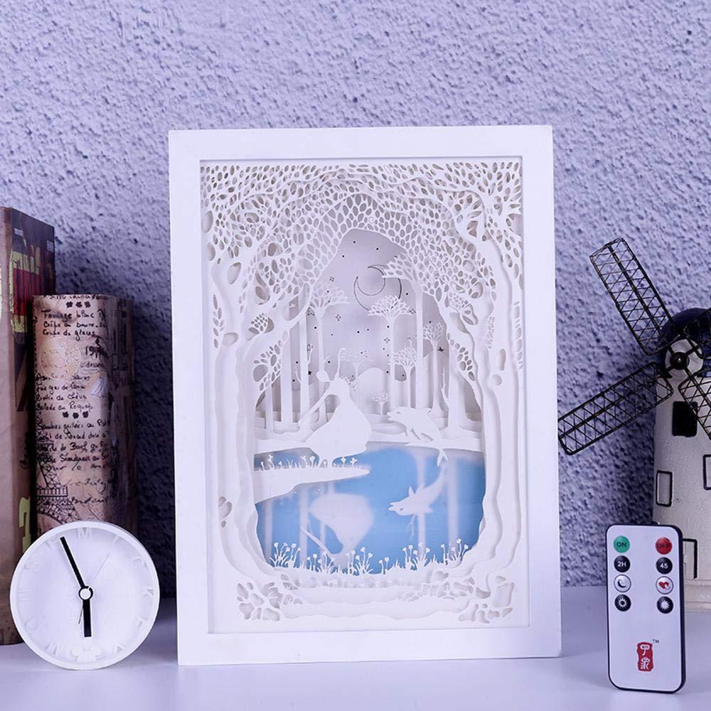 T-YXM Licht und Schatten Papier Carving Lichter Ballett weibliche Schlafzimmer Dekoration Tisch Lampe Geschenk nachtlicht