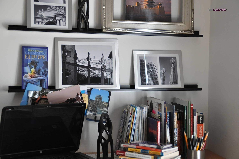 Metal Modern ULTRAledge 4//48 Art Display//Picture Ledge//Floating Shelf 2 deep, Black