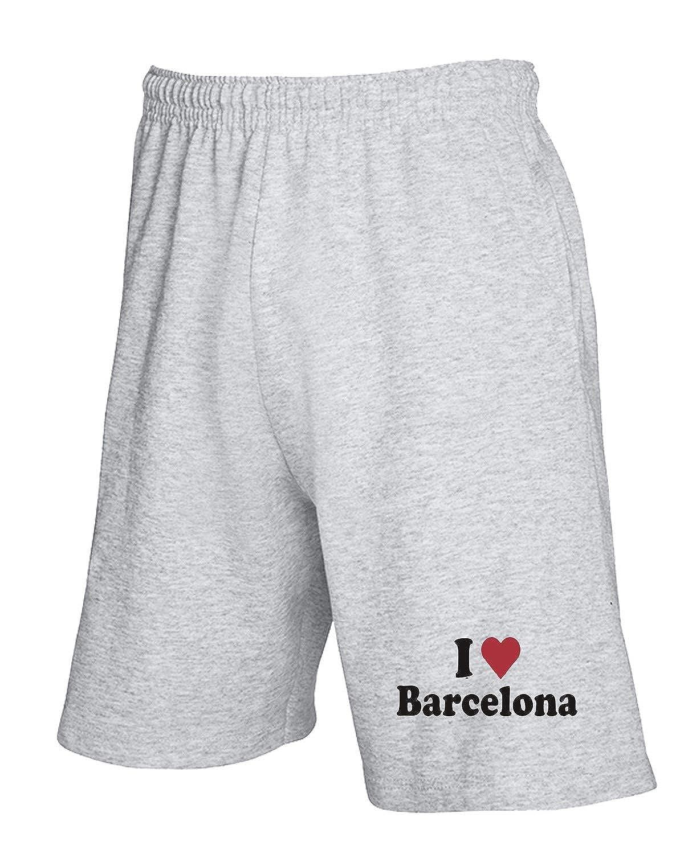 Speed Shirt WC0408 I Love Heart Barcelona - Pantalón Corto de ...