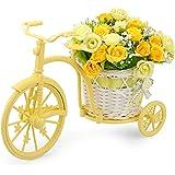 Louis Garden Nostalgic Bicycle Artificial Flower Decor Plant Stand (Yellow)