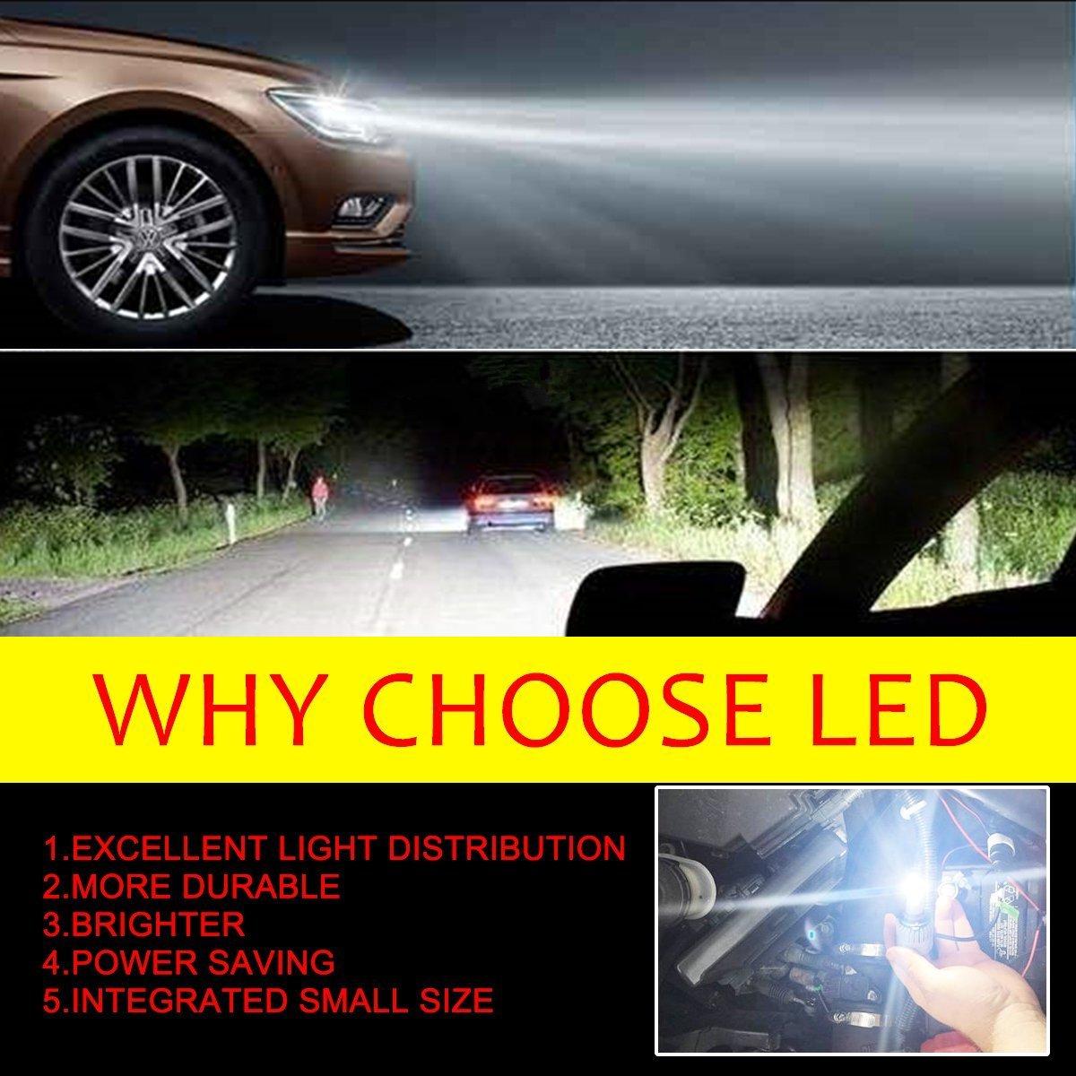 Amazon.com: H7 LED Headlight Bulbs, SWATOW INDUSTRIES H7 Headlight Kits Osram COB 10,000lm 6000K Cool White 2PCS - 2 Year Warranty: Automotive