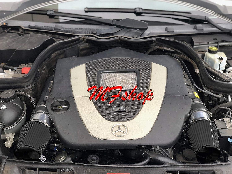 Air Intake Filter Kit System for 2008 2009 2010 2011 2012 Mercedes Benz C300 C350 with 3.0L 3.5L V6 Engine Black Filter /& Accessories