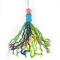 Sanwooden Funny Parrot Hanging Toy Colorful Thread Cage Hanging Decor Parrot Birds Chew Bite Toy Pet Accessories Pet Supplies