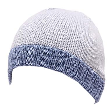 PAULA 9304Y cuffia bimbo boy light blue/blue mix wool beanie hat ...