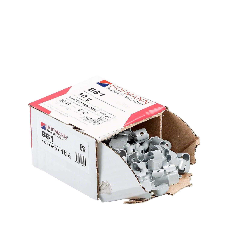 Contrapesos de equilibrado tira Contrapesos rueda de equilibrio para llantas aluminio 100x Pesos de rueda Typ661 10g