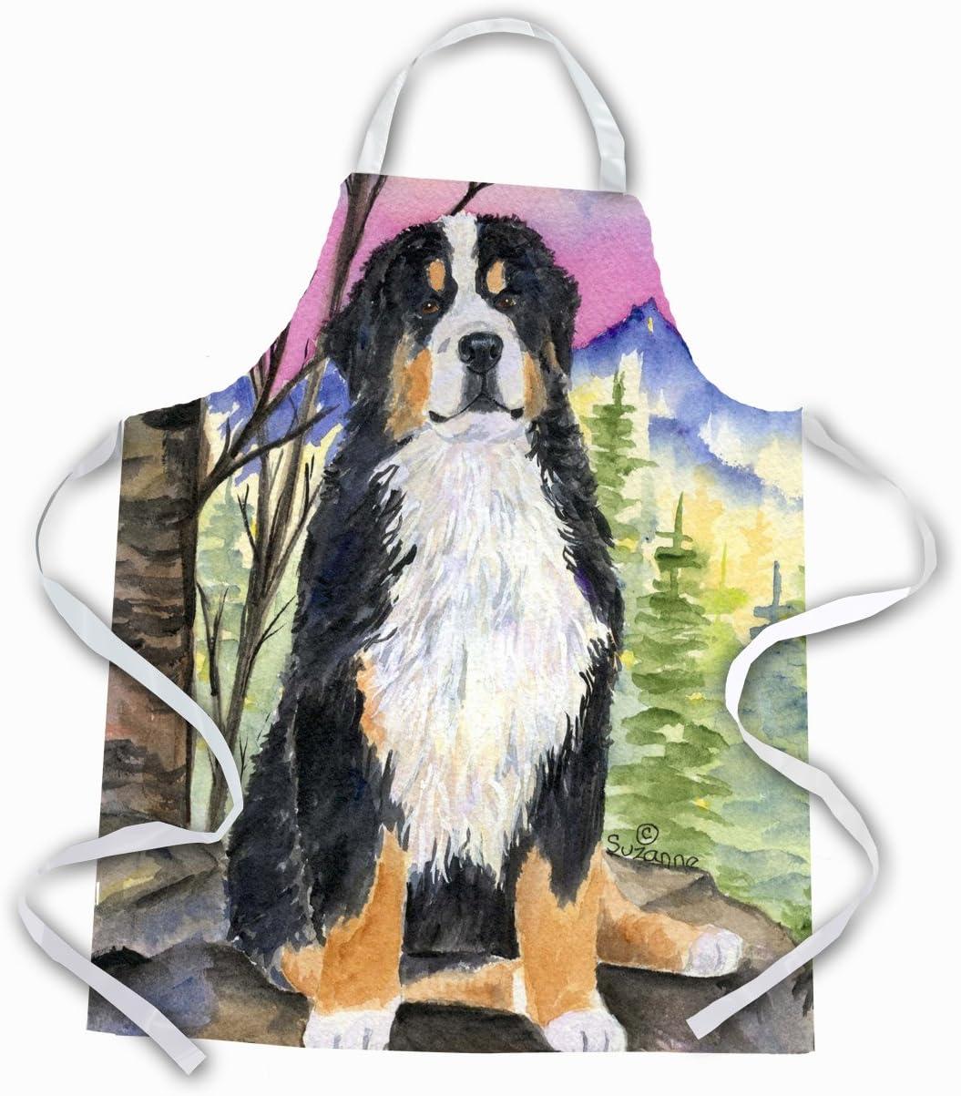 Amazon Com Caroline S Treasures Ss8336apron Bernese Mountain Dog Apron Large Multicolor Kitchen Dining