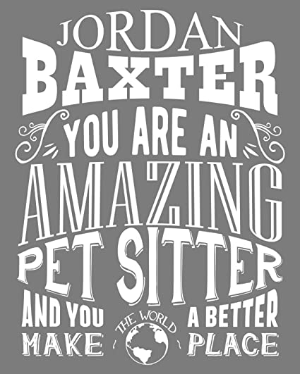 amazon com personalized amazing pet sitter custom gift for pet