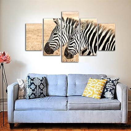 Merveilleux Canvas Wall Art Prints,Friendly Zebra,Lovely Animals Canvas Photo Art,Modern  Decor