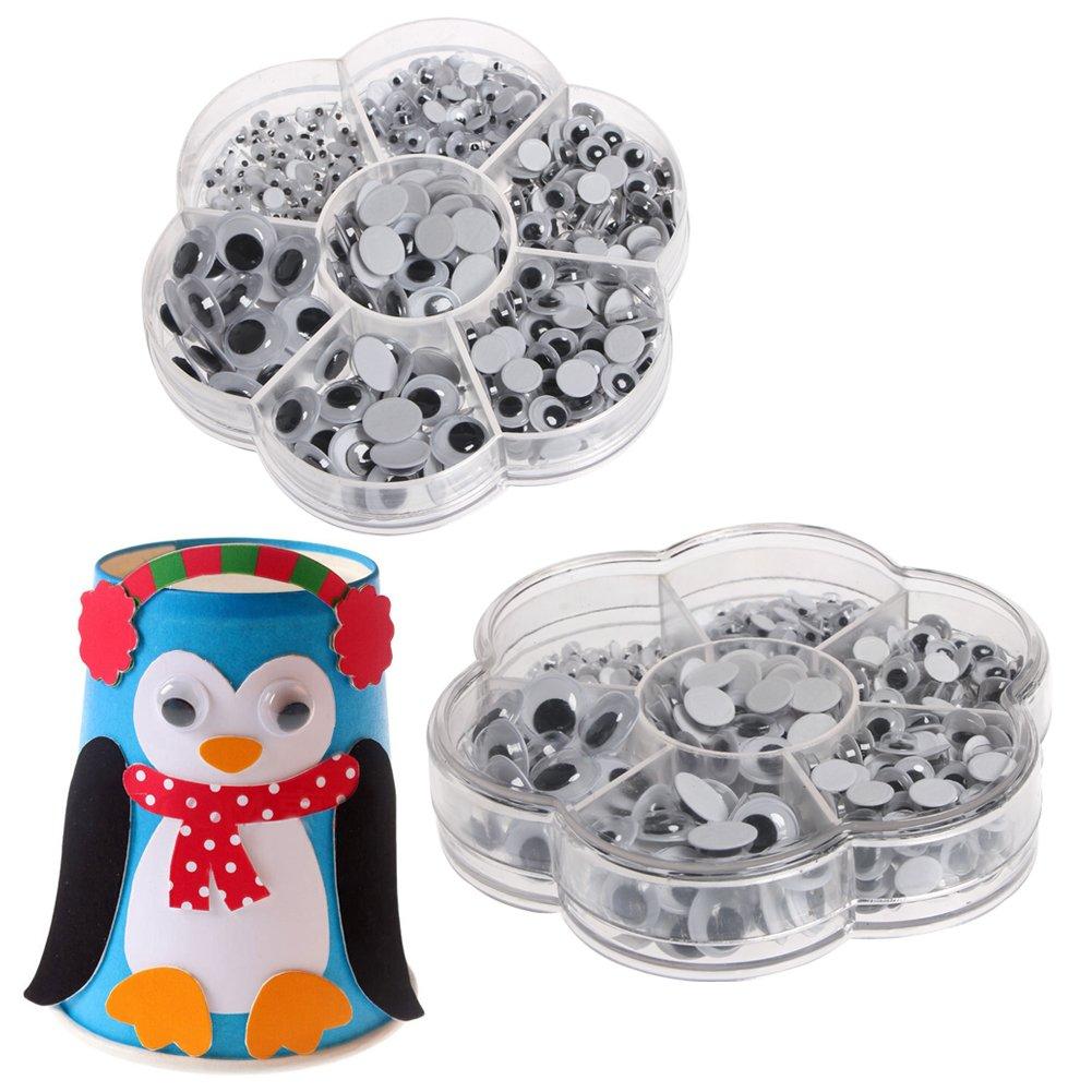 Jiamins 500/piezas de ojos de seguridad pl/ástico, negros ojos de s/ólidos Googly Wiggly para Teddy, oso, mu/ñeca, Fantoche y artesan/ía