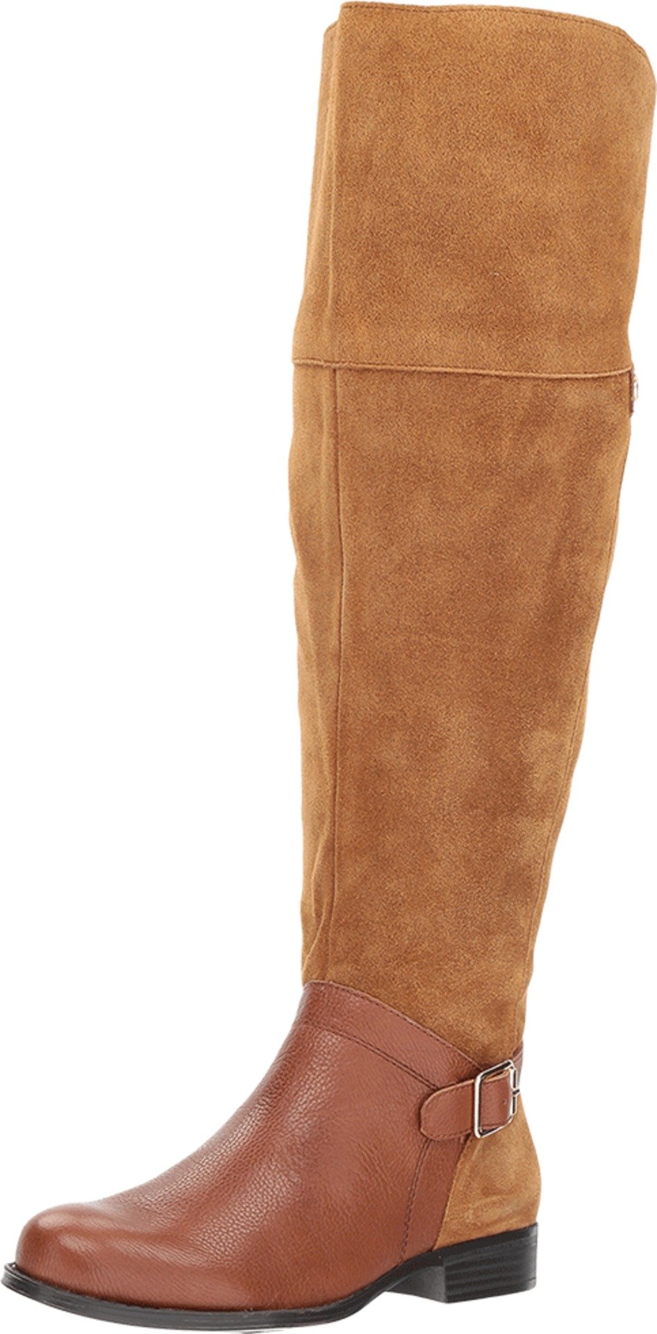 Naturalizer Women's January Wc Riding Boot, Camel, 11 2W US