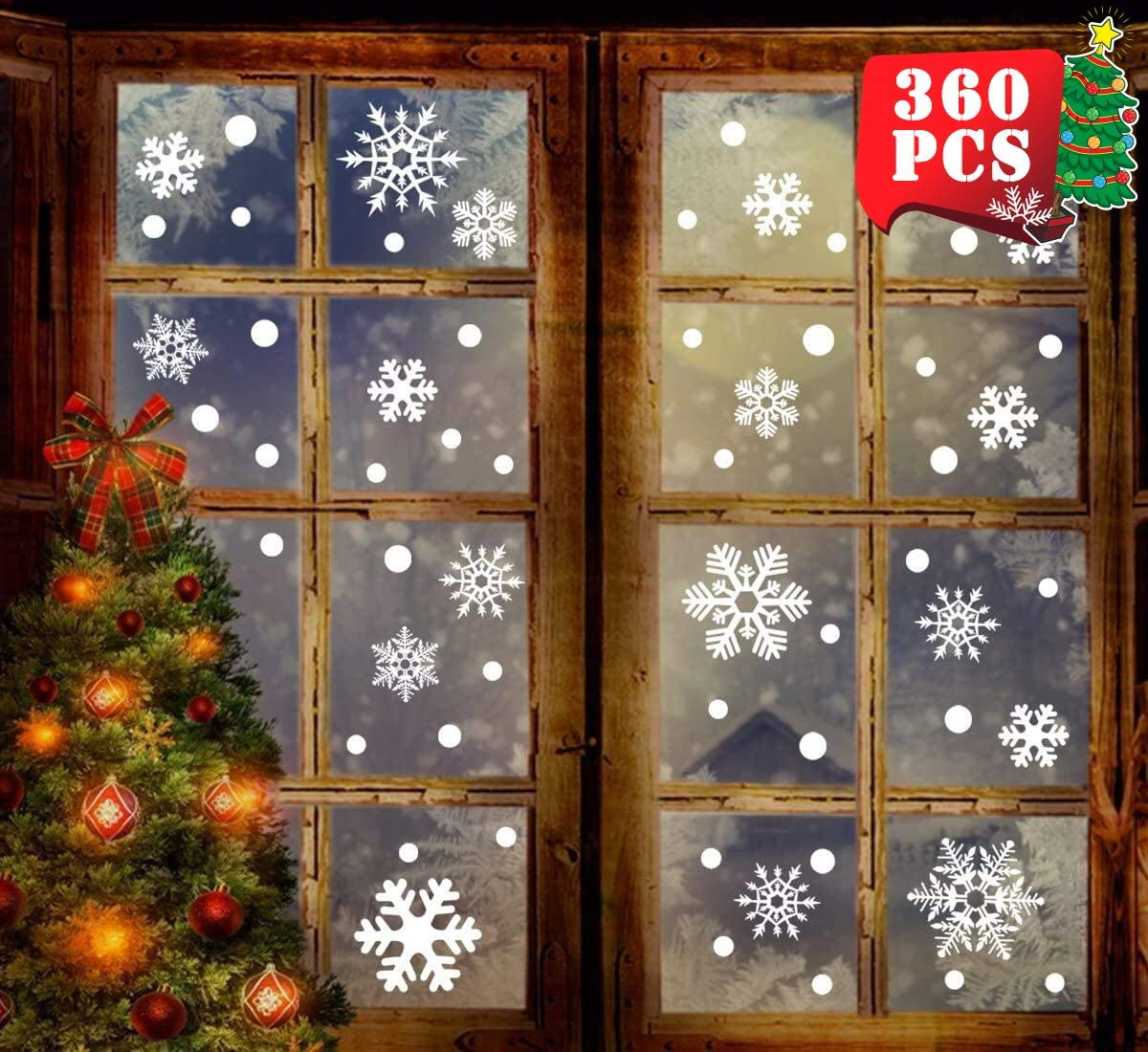 100 Pcs Fabric Snowflake Embellishments for Christmas Tree Party Home Decors