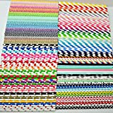 Free DHL Shipping Choose Your Colors 10000 Paper Straws Wholesale,Colored Red Blue Green Black Purple Yellow Pink Grey Gold Silver Paper Drinking Straws Bulk