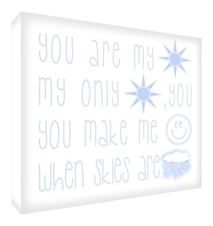 Feel Good Art You Are My Sunshine Diamond Polished Modern Typographic Acrylic Decor Block/Token (14.8 x 10.5 x 2 cm, Multicoloured) SUN-A6BLK-15NV