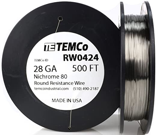 500ft Ni80 wire 28 Gauge AWG Nichrome 80 Resistance Wire 500' Length