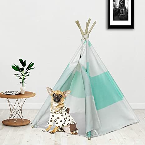 RSFZ Pet Teepee Tent for Dogs Teepee House Cotton Canvas Teepee Pet Tent Bed Indoor or  sc 1 st  Amazon.com : dog teepee tent - afamca.org
