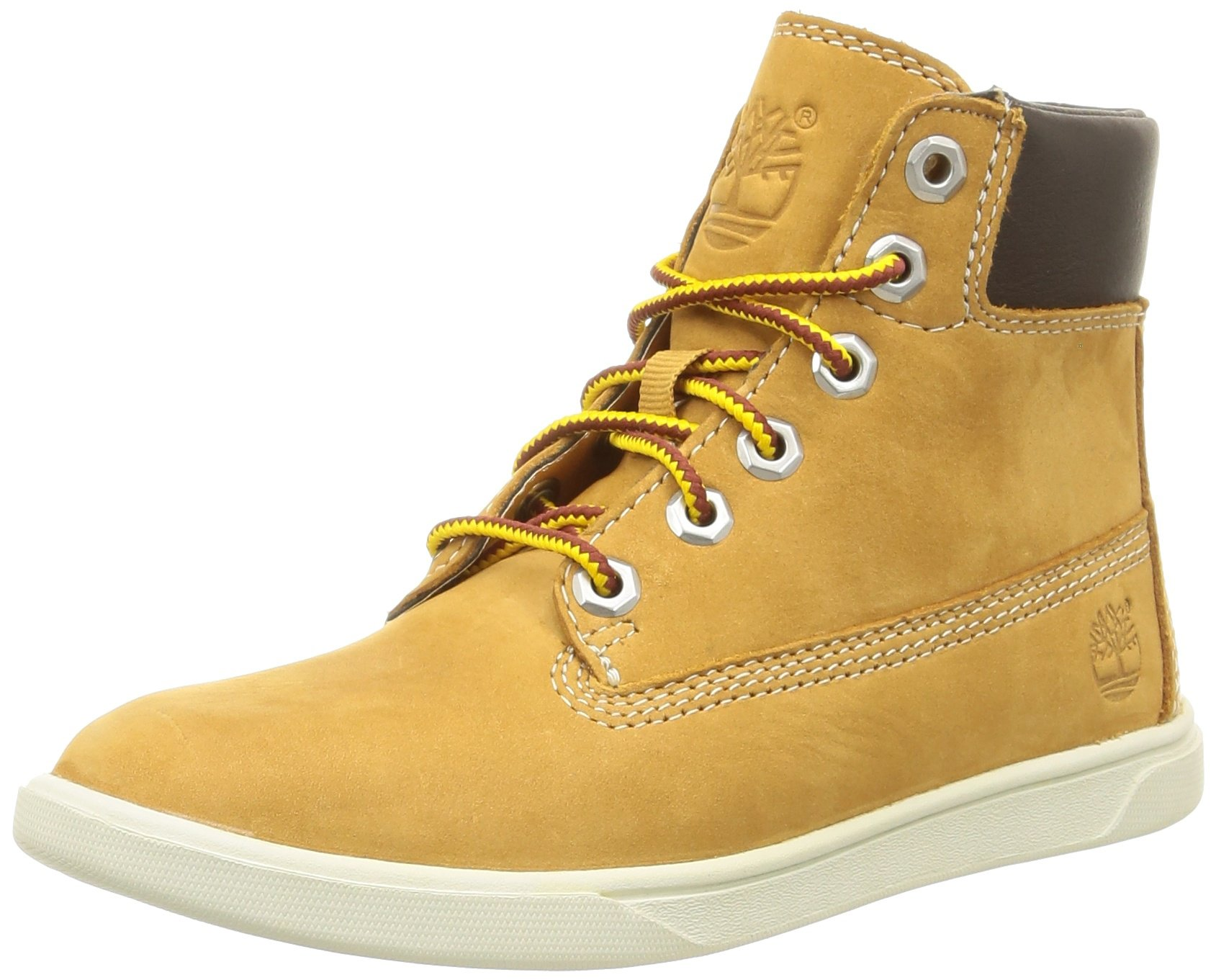 Timberland Kids Groveton 6-Inch Lace With Side Zip Boots, Wheat, 6.5 M US Big Kid