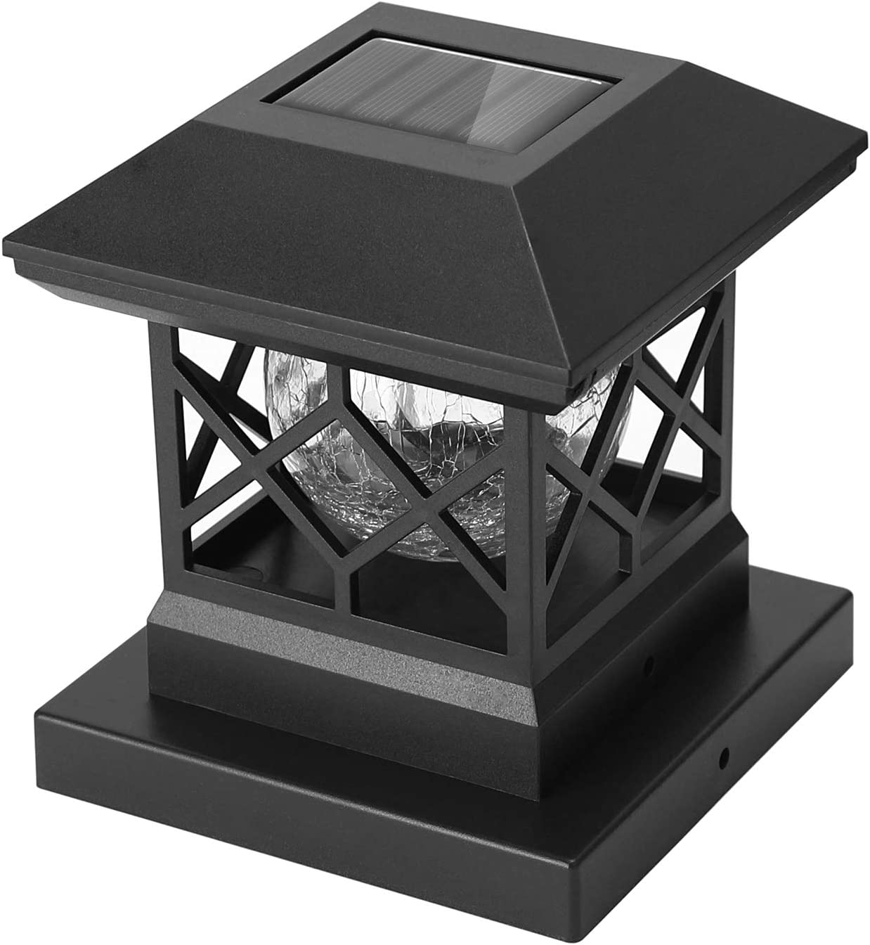 Slate Black 2 Pack Fits 4x4 Or 6x6 Posts Solar Post Fence Outdoor Lights