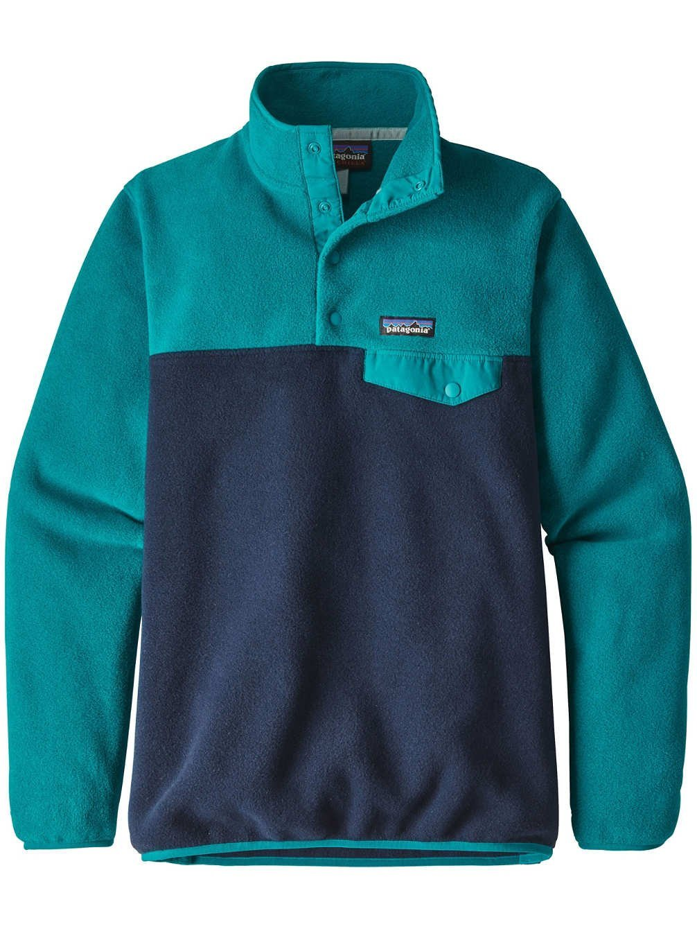 Patagonia Women Light Weight Synch Snap-T Pull Over Sweater - Nickel w/ Galah Green B071VVQ9T3 Large|Elwha Blue