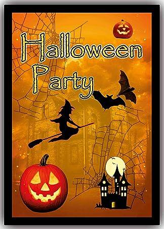 Halloween Einladungskarten Gruselig Z.B. Zum Kindergeburtstag Party Feier  (8 Stück)
