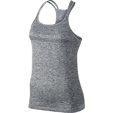 eee47aa98f900 Nike Dri-Fit Knit Strappy Tank Top - Womens Black Heather Reflective  Silver