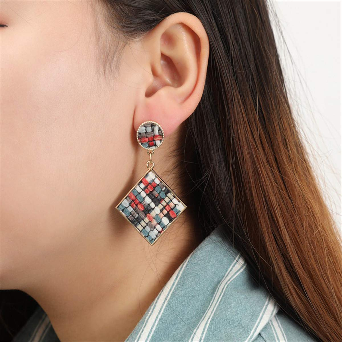 Ear Cuffs Hoop Fzitimx Bohemian Europe and The United States Ethnic Style Hollow Beaded Tassel Earrings