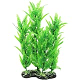 Uxcell Plastic Fish Tank Emulational Underwater Plant Decor, 15.4-Inch, Green