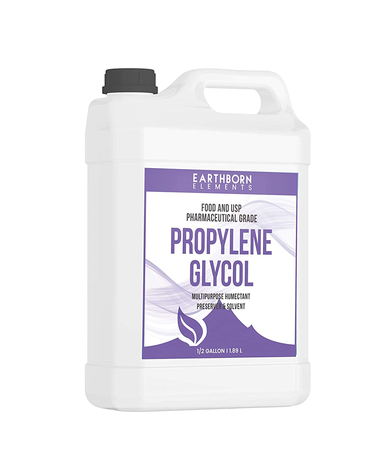 Propylene Glycol Half Gallon (64 oz.) by Earthborn Elements, 100% Pure, Food & Pharmaceutical Grade, Hypoallergenic Moisturizer & Skin Cleanser