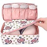 PETRICE Nylon Undergarments and Innerwear Storage Organiser Travel Bag (Colour May Vary)