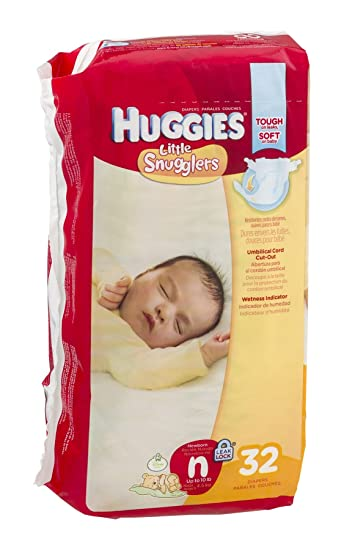 Huggies Diapers Little Snugglers Disney Size N (Up to 10 lb) 32 CT ...