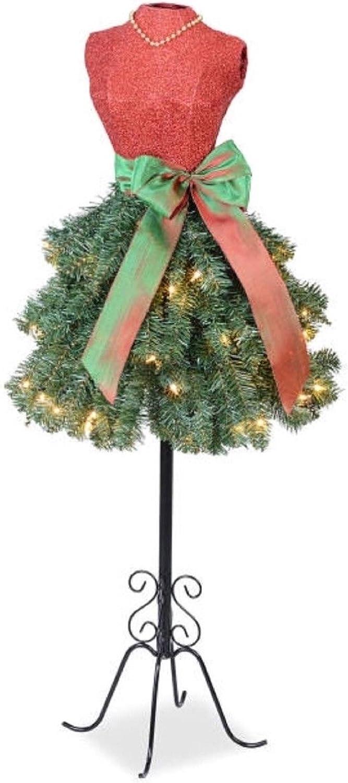 Winter Wonderland 5 Ft Christmas Holiday Pre-lit Dress Form