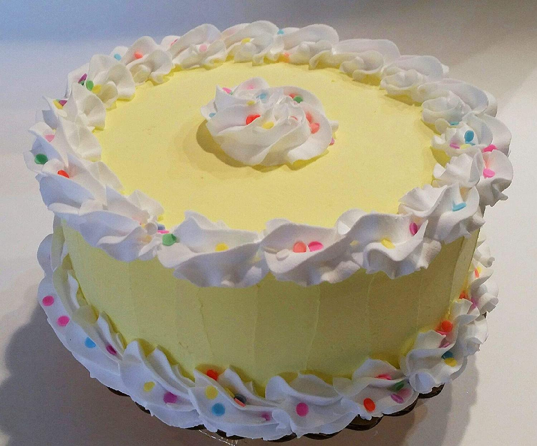 Groovy Amazon Com Dezicakes Large Birthday Cake Yellow Confetti Fake Funny Birthday Cards Online Amentibdeldamsfinfo