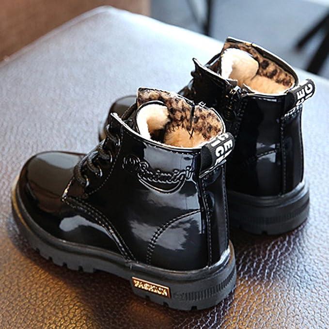 YanHoo Zapatos para niñas pequeñas Botas Niños Moda Niños Niñas Zapatillas de Deporte Invierno Gruesa Nieve Bebé Zapatos Casuales para niños Botines ...