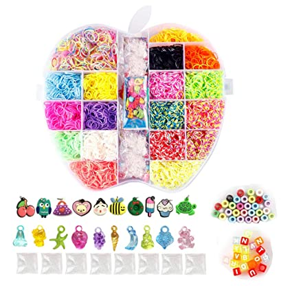Beading & Jewellery Kits Loom Bands 600 pieces in One Loom Band Pack 60 packs in One Large Box
