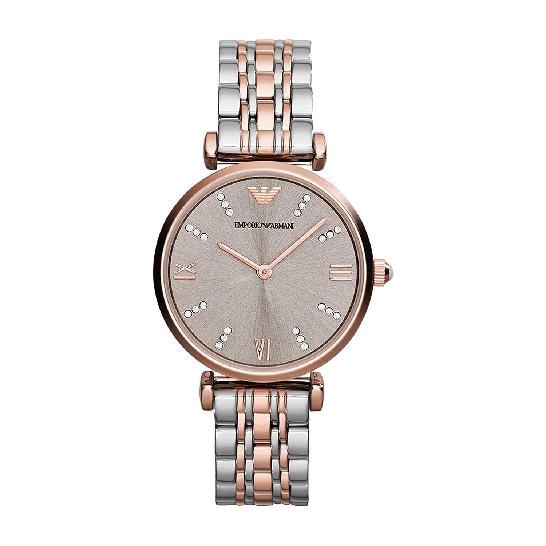 589becc3 Emporio Armani Women's AR1840 Retro Two Tone Watch