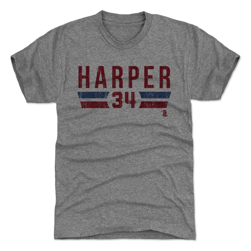 0df045b49 Amazon.com   500 LEVEL s Bryce Harper Shirt - Washington Baseball Fan Gear  Officially Licensed by the MLB Players Association - Bryce Harper Font R    Sports ...