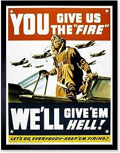 Wee Blue Coo War WWII USA Pilot Fighter Jet Art Print Framed Poster Wall Decor 12x16 inch