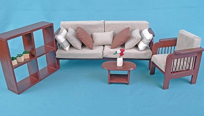 amazon com furniture for barbie dolls living room set dollhouse rh amazon com