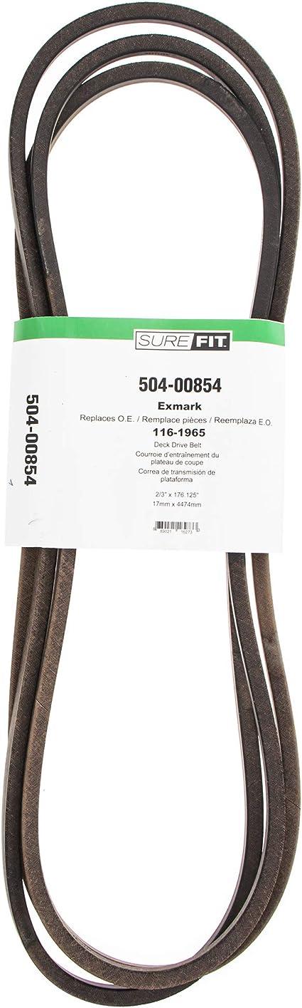 "SureFit Deck Drive Belt for Exmark 116-1965 109-8070 Toro 48/""-72/"" Lazer Z Mowers"