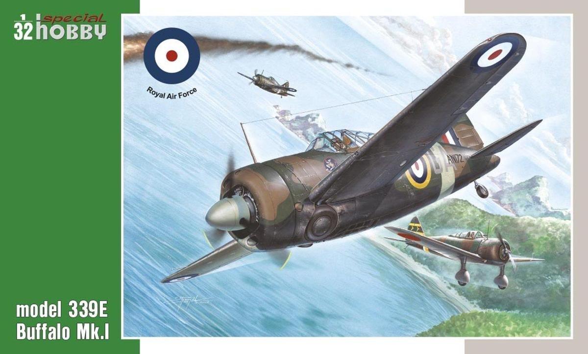 Special Hobby Model 339E Buffalo Mk I Aircraft 1//32 Scale