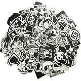 Aufkleber Pack [100-pcs] ANKENGS Graffiti sticker, Vinyl Stickers, Zufälliger Aufkleber, Vervollkommnen Sie zu den Laptops, Skateboards Fahrrad, Autos, Kinder, Motorrad, Gepäck, iPhoneund mehr(schwarz)