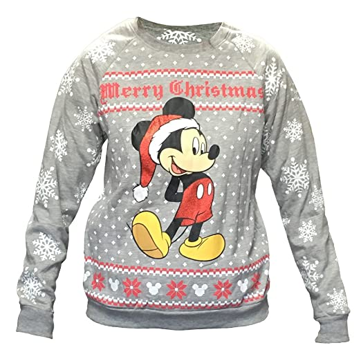 Amazoncom Disney Womens Mickey Mouse Ugly Christmas Sweater